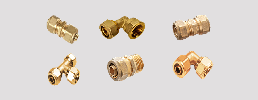 Brass Compression Fittings for Pex Tube and Pipe